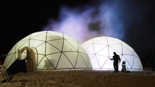 SounDomen jääiglut rakentuvat Varpasaareen